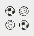 set soccer football balls vector image