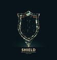 shield a symbol of protection and reliability vector image vector image