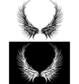 silhouette of wings vector image vector image