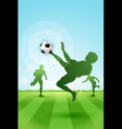 Soccer Background with three Players vector image