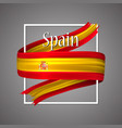 spain flag official national spains 3d vector image
