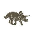triceratops dinosaurs logo design icon symbol vector image vector image