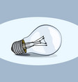 typical classic light bulb vector image vector image