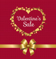 valentines sale poster heart made of golden stars vector image vector image