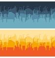 Industrial factory buildings horizontal banners vector image