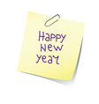 reminder happy new year color vector image