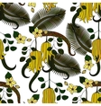 Pattern with tropical plants flowers and citron vector image