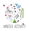 about winter outdoor vector image