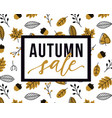 autumn sale flyer template with lettering and vector image vector image