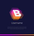 b-monogram-logo vector image