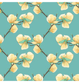 background with blooming magnolia tree branches vector image vector image