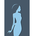Beautiful womans silhouette image vector image