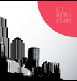 black and white panorama city art vector image