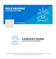 blue business logo template for conversion vector image vector image