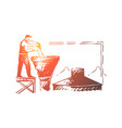 brewery worker alcohol factory employee vector image