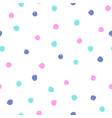 bright paint dots seamless pattern vector image vector image