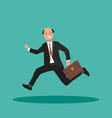 businessman is late for work vector image vector image