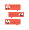 chat message concept vector image vector image