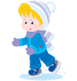 Child skating vector image