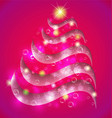 christmas tree abstract swirly background vector image vector image