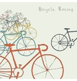 Colored bikes vector image