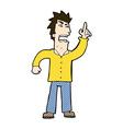 comic cartoon angry man making point vector image