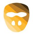 cricket mask icon vector image vector image