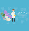 dental doctor stomatology cabinet for dental vector image vector image