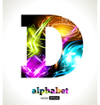 Design Abstract Letter D vector image vector image