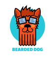 dog grooming logo vector image vector image