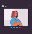 female doctor in web browser window having virtual vector image