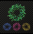 firework bursting explode backdrop vector image vector image