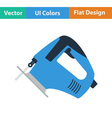 Flat design icon of jigsaw icon vector image vector image