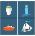 Front View of a Ship Lighthouse vector image vector image