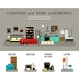 Furniture and home accessories banner vector image vector image