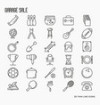 Garage sale or flea market related icons vector image