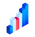gradient chart icon isometric style vector image