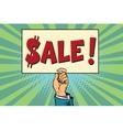 hand sale billboard vector image vector image