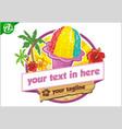 hawaii ice logo vector image vector image