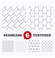 Hex diagonal rectangles and circles textures vector image