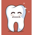human tooth character icon vector image vector image