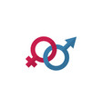 isolated gender signs flat icon sexuality symbol vector image