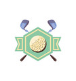 label with ball and sticks golf vector image