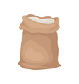 large bag full of rice or flour big brown sack vector image vector image