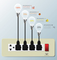 Light Bulb Switch Infographic Design Template vector image vector image