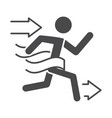 man winner on line finish running speed sport race vector image