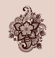 mehndi ornament vector image vector image