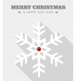 Merry Christmas red dot snowflake vector image