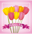 mothers day card floral vector image vector image