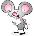 mouse cartoon character thumbs up vector image vector image